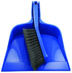 Quickie 402ZQK Handheld Dust Pan and Brush Set, 12.02 in L x 10.32 in W x 12.44 in H, Plastic, Poly Fiber