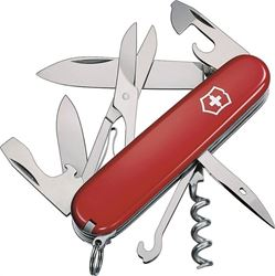 Climber 56381 Pocket Knife, 14-In-1 Function, Stainless Steel, Red