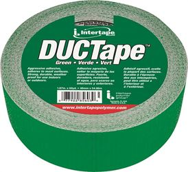 Intertape 20C-GR2 Duct Tape, 1.87 in W x 60 yd L, Poly Coated Cloth Backing, Green, Utility