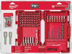 Milwaukee 48-89-1561 Drill and Driver Set, 95 Pieces