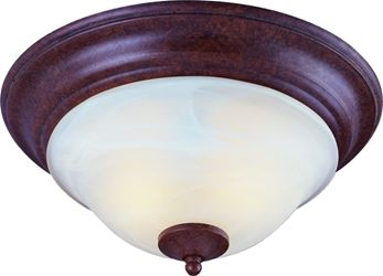 Boston Harbor 3563608 Dimmable Ceiling Light Fixture, (2) 60/13 W Medium A19/CFL Lamp, Rustic Brown