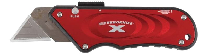 Turboknife X 33-132 Utility Knife, Red Ergonomic