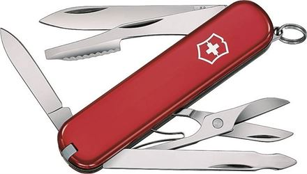 Executive 53401 Pocket Knife, 10-In-1 Function, Stainless Steel, VX Red