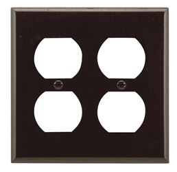 Arrow Hart Eagle 2150 Standard Wall Plate, 2 Gang, 4-1/2 in L x 4.56 in W x 0.08 in T, Brown 10 Pack