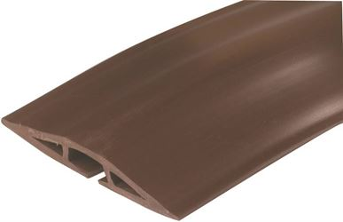 Wiremold CDB-015 Cord Protector, 15 ft L x 2-1/2 in W, Brown