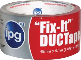 Intertape 6910 Duct Tape, 1.87 in W x 10 yd L, Poly Coated Cloth Backing