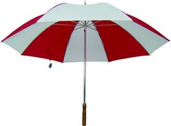 Homebasix TF-06 Golf Umbrella, 29 in Dia, Nylon, Red/White