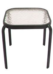 T4S16KO1J33 End Table, 16 in W, Square, Glass 8 Pack