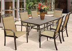 T6R60UO3J33 Outdoor Dining Table, 60 in W x 38 in H, Steel