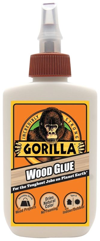 Gorilla 6202003 Wood Glue, 4 oz, Bottle, Light Tan, Milky, Liquid