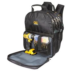 Custom Leathercraft Tool Works 1132 Heavy Duty Tool Backpack 17-1/2 in L X 13 in W X 9 in D, Cordura Fabric