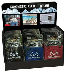 Realtree MCCCD1000 Magnetic Can Cooler Counter Display, 12 oz Can, 36 Pieces