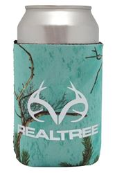 SEI/Realtree Camo Magnetic Can Cooler, Sea Glass Body, 4 in W x 8 in L Exterior 12 Pack