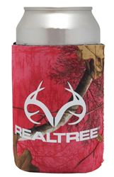 SEI/Realtree Camo Magnetic Can Cooler, 12 oz, Paradise Pink Body, 5 in W x 4 in L Exterior 12 Pack
