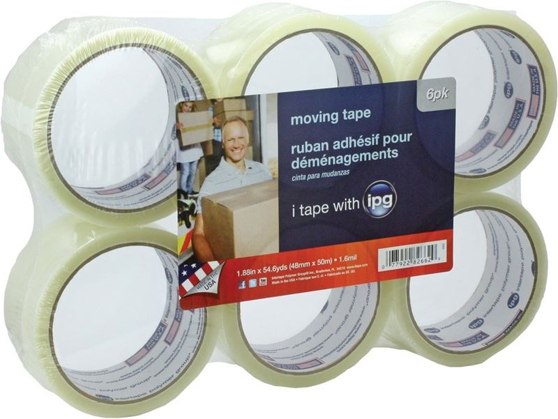 IPG 2662 Sealing Tape, 1.88 in W x 54.6 yd L x 1.6 mil T, Clear