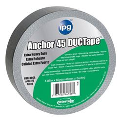 Intertape AC45 Heavy Duty Duct Tape, 1.87 in W x 60 yd L x 12 mil T, Silver, Contractor