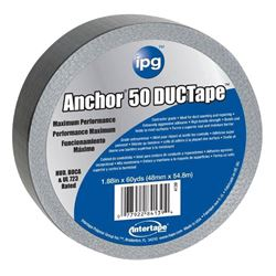 Intertape AC50 Heavy Duty Duct Tape, 1.87 in W x 60 yd L x 14 mil T, Silver, Contractor