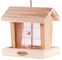 HEATH 152-2 Hopper Bird Feeder, 3 lb Seed, Cedar Wood