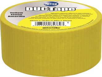 Intertape 6720YEL Duct Tape, 1.88 in W x 20 yd L, Yellow