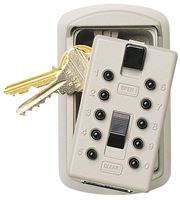 GE 3.88 in. H x 2.5 in. W Brass 4-Digit Combination Key Safe 1 pk