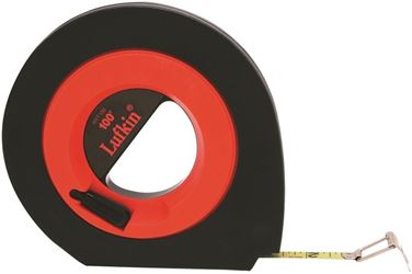 Apex Tool Group Speedwinder Long Measure Tape, 1/8 in Graduations, SAE, 3/8 in W x 100 ft L, Steel, Closed