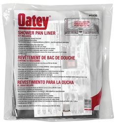Oatey 41630 Shower Pan Liner Kit Without Dam Corners, 40 mil T, 5 ft W X 6 ft L, Gray, PVC