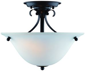 Boston Harbor 7208713 Dimmable Ceiling Light Fixture, (2) 60/13 W Medium A19/CFL Lamp, Matte Black
