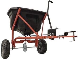 Agri-Fab 45-0527 Tow Broadcast Spreader, 10 in Dia Pneumatic Wheel, 17500 sq-ft Coverage, 26 in L x 25 in W
