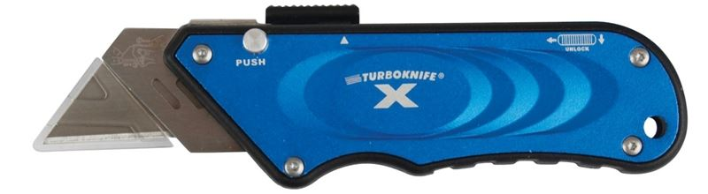 TurboknifeX 33-134 Utility Knife, Blue Ergonomic