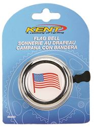 Kent 96303 American Flag Bell, For Use With Standard Bicycle Handlebars