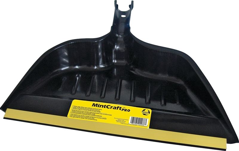 MintCraft 2033 Snap-On Dust pan, 14 in W, Rubber Edge, For Use With Broom