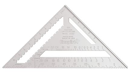 Empire Magnum 3990 Heavy Duty Rafter Square, 12 in, Aluminum