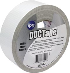 Intertape 20C-W2 Duct Tape, 1.87 in W x 60 yd L, Poly Coated Cloth Backing, White, Utility