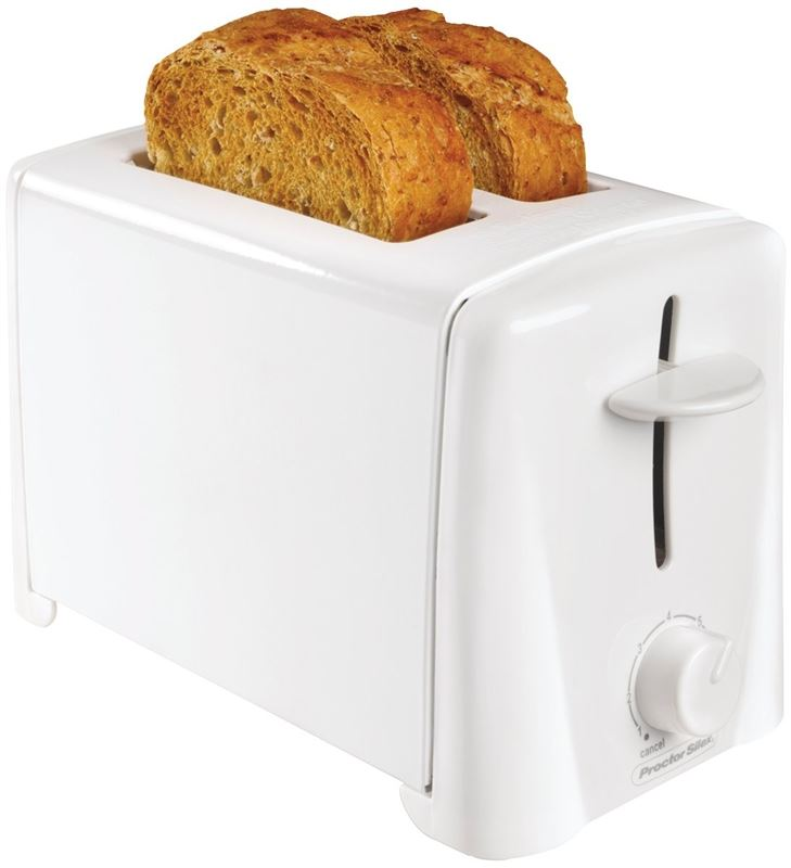 Proctor-Silex 22611 Wide Slots Electric Toaster, 2 Slice, 750 W, 120 V