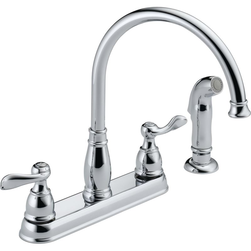 Delta Windemere Kitchen Faucet, 8 in Center, Lever Handle