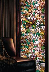 Artscape Magnolia Decorative Window Film, 24 in W x 36 in L x 0.007 in T, Stained Glass 4 Pack