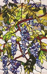 Artscape Wisteria Decorative Window Film, 24 in W x 36 in L x 0.007 in T, Stained Glass 4 Pack