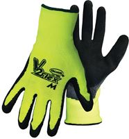 Boss V2 Flexi Grip Men's Indoor/Outdoor Polyester Knit Hi-Viz Gloves Black/Green Large