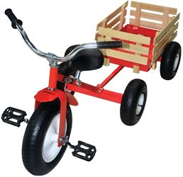 Speedway 53498 Retro Tricycle, 13 x 3 in Front Wheel, 10 x 3-1/2 in Rear Wheel, Classic Red