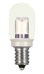 0.8W LED T6 Indicator Bulb - Candelabra base - Clear - 2700K - 120V