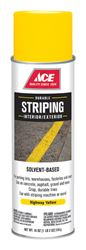 Ace  Striper  Yellow  Solvent-Based Striping Paint Spray  18 oz.