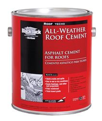 Black Jack  Roof Techo  Asphalt  All-Weather Roof Cement  3.6 qt. Black