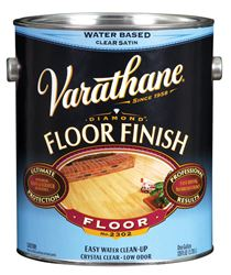 Varathane  Water Based  Satin  Floor Finish  1 gal. Clear