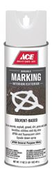 Ace  Sovent-Based  APWA General Purpose White  Upside-Down Marking Spray Paint  17 oz.