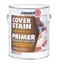 Zinsser Cover Stain  Oil-Based  Interior and Exterior  Primer and Sealer  1 gal. White