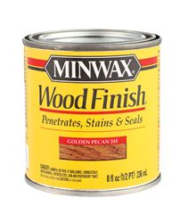 Minwax  Wood Finish  Transparent  Oil-Based  Wood Stain  Golden Pecan  1/2 pt.