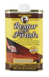 Howard  Restor-A-Finish  Semi-Transparent  Oil-Based  Wood Restorer  Golden Oak  1 pt.