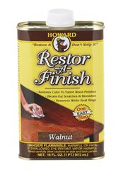 Howard Restor-A-Finish Semi-Transparent Walnut Oil-Based Wood Restorer 1 pt.