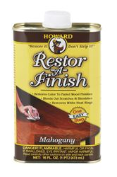 Howard Restor-A-Finish Semi-Transparent Mahogany Oil-Based Wood Restorer 1 pt.