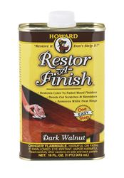 Howard  Restor-A-Finish  Semi-Transparent  Oil-Based  Wood Restorer  Dark Walnut  1 pt.